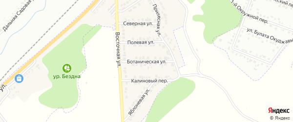 Ботаническая улица на карте Майского поселка Белгородской области с номерами домов
