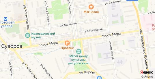 Проспект Мира в Суворове с номерами домов на карте. Спутник и схема онлайн