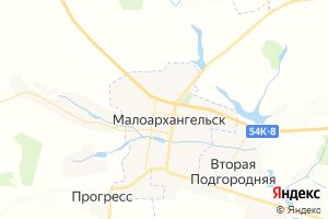 Карта г. Малоархангельск Орловская область
