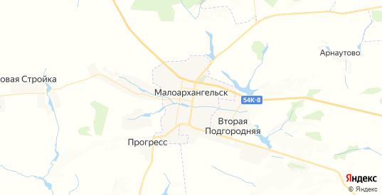 Карта Малоархангельска с улицами и домами подробная. Показать со спутника номера домов онлайн