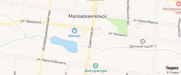 Советская улица на карте Малоархангельска с номерами домов