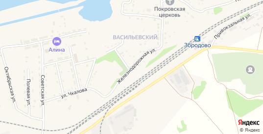 Железнодорожная улица в Суворове с номерами домов на карте. Спутник и схема онлайн