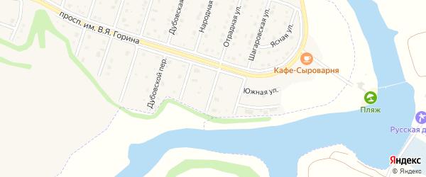 Отрадный переулок на карте Майского поселка Белгородской области с номерами домов