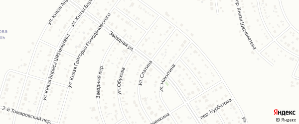 Улица Слатина на карте Белгорода с номерами домов