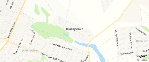 Карта села Шагаровки в Белгородской области с улицами и номерами домов