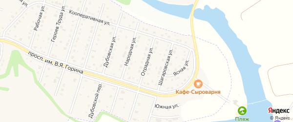 Отрадная улица на карте Майского поселка Белгородской области с номерами домов