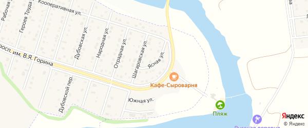 Ясная улица на карте Майского поселка Белгородской области с номерами домов