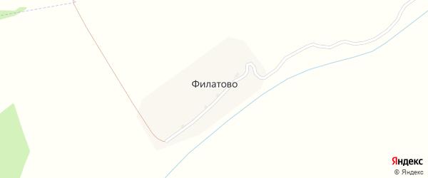 Овражная улица на карте деревни Филатово Тульской области с номерами домов