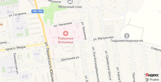 Улица Матросова в Суворове с номерами домов на карте. Спутник и схема онлайн