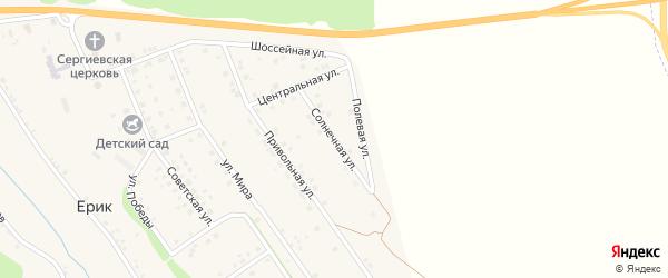 Солнечная улица на карте села Ерика Белгородской области с номерами домов