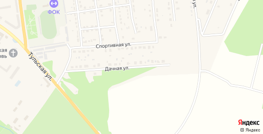 Дачная улица в Суворове с номерами домов на карте. Спутник и схема онлайн