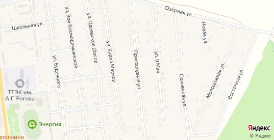 Пригородная улица в Суворове с номерами домов на карте. Спутник и схема онлайн