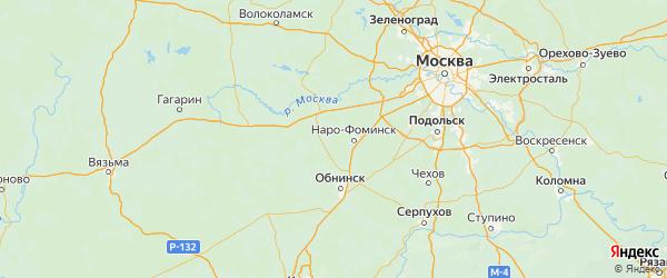 Карта Наро-фоминского района Московской области с городами и населенными пунктами