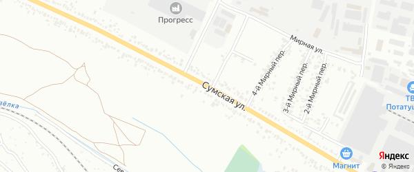 Сумская улица на карте Белгорода с номерами домов