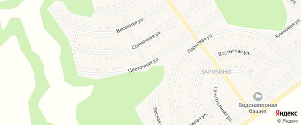 Цветочная улица на карте села Новой Нелидовки Белгородской области с номерами домов
