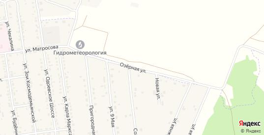 Озерная улица в Суворове с номерами домов на карте. Спутник и схема онлайн