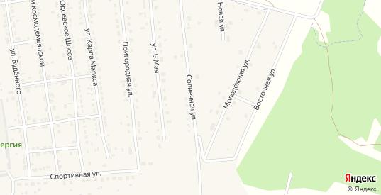 Солнечная улица в Суворове с номерами домов на карте. Спутник и схема онлайн