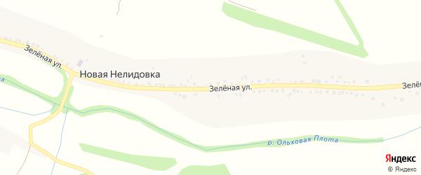 Зеленая улица на карте села Новой Нелидовки с номерами домов