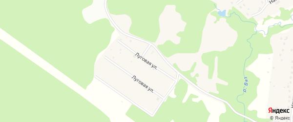 Луговая улица на карте Высоковска с номерами домов