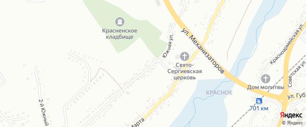 Южная улица на карте Белгорода с номерами домов