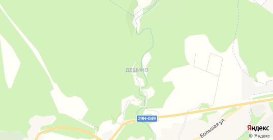 Карта деревни Дешино в Боровске с улицами, домами и почтовыми отделениями со спутника онлайн