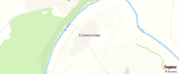 Карта деревни Скомонтово в Тульской области с улицами и номерами домов