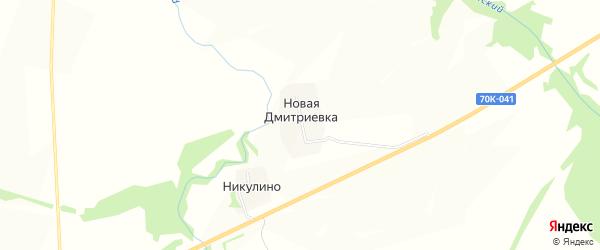 Карта деревни Новой Дмитриевки в Тульской области с улицами и номерами домов