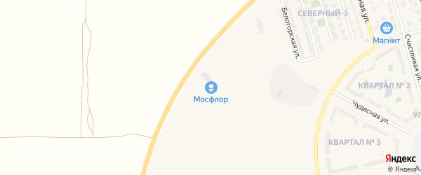 Квартал N1 на карте поселка Дубового с номерами домов