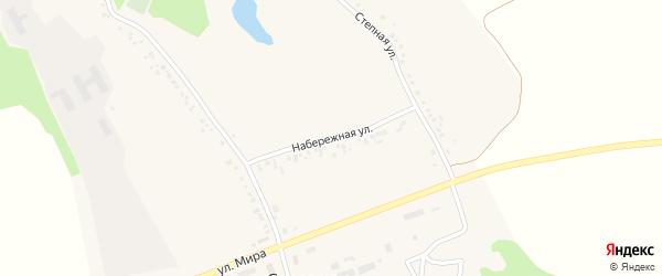 Набережная улица на карте села Смородино с номерами домов