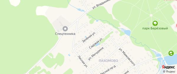 Зеленая улица на карте Высоковска с номерами домов