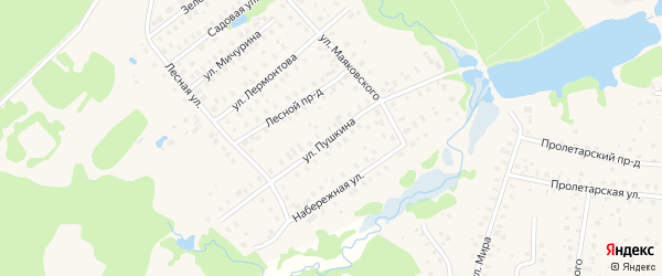 Улица Пушкина на карте Высоковска с номерами домов