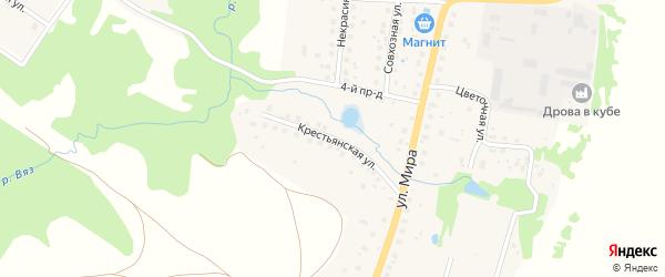 Крестьянская улица на карте Высоковска с номерами домов