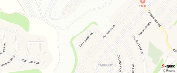 Песчаный переулок на карте Таврово 6-й микрорайона с номерами домов