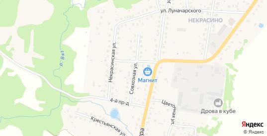 Совхозная улица в Высоковске с номерами домов на карте. Спутник и схема онлайн