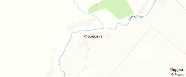 Карта деревни Фроловки в Орловской области с улицами и номерами домов