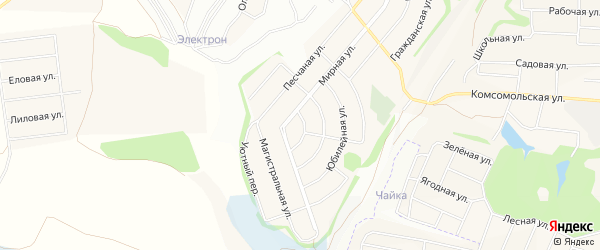 СТ Меркурий на карте Таврово 6-й микрорайона с номерами домов