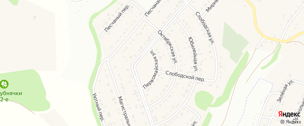Уютный переулок на карте Таврово 6-й микрорайона с номерами домов