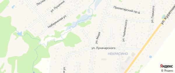 Луначарский тупик на карте Высоковска с номерами домов