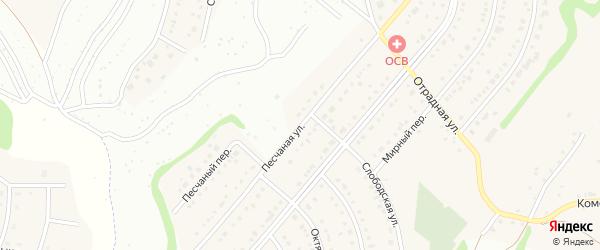 Песчаная улица на карте Таврово 6-й микрорайона с номерами домов