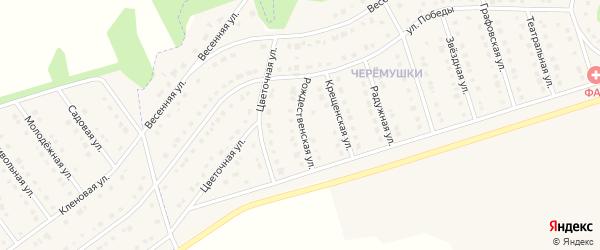 Рождественская улица на карте Никольского села Белгородской области с номерами домов