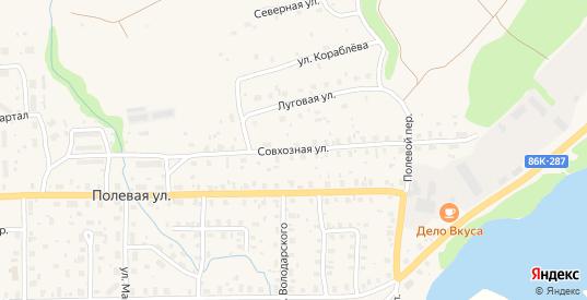 Совхозная улица в Пудоже с номерами домов на карте. Спутник и схема онлайн