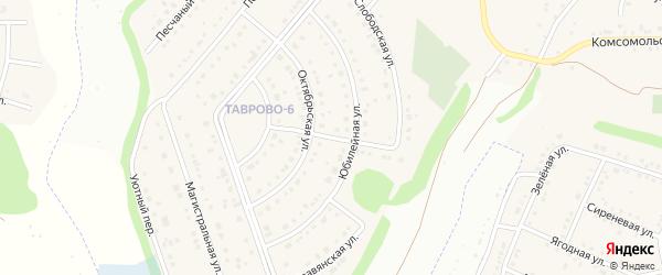 Слободской переулок на карте Таврово 6-й микрорайона с номерами домов