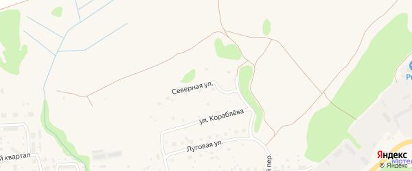 Северная улица на карте Пудожа с номерами домов