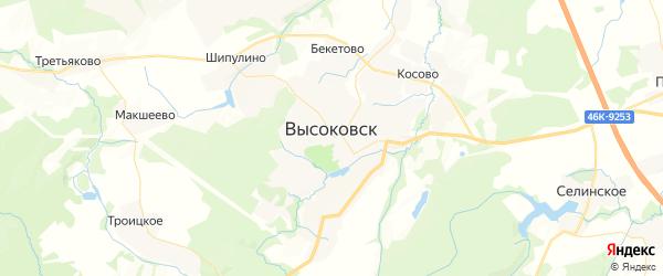 Карта Высоковска с районами, улицами и номерами домов: Высоковск на карте России
