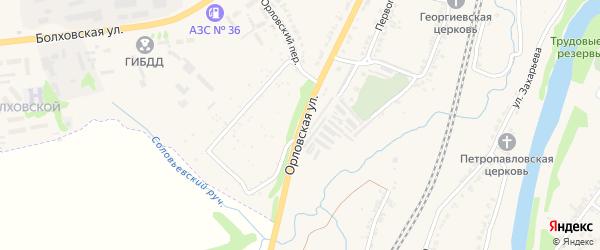 Орловская улица на карте Мценска с номерами домов
