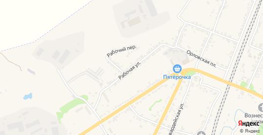 Рабочая улица в Мценске с номерами домов на карте. Спутник и схема онлайн