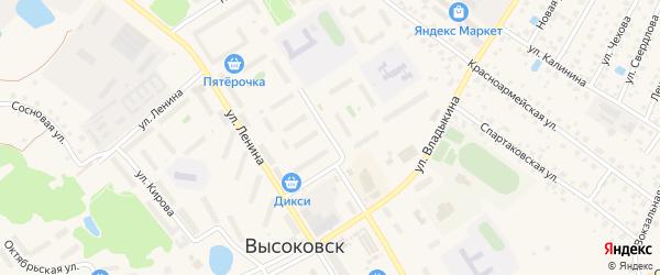 Первомайский проезд на карте Высоковска с номерами домов