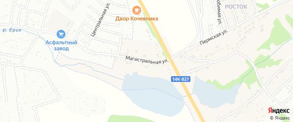 Магистральная улица на карте села Шопино с номерами домов