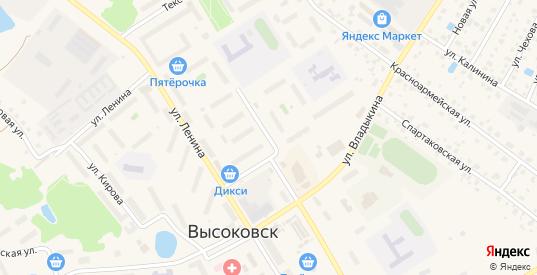 Первомайский проезд в Высоковске с номерами домов на карте. Спутник и схема онлайн