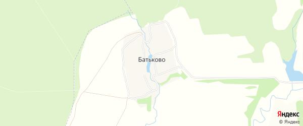 Карта деревни Батьково в Тульской области с улицами и номерами домов